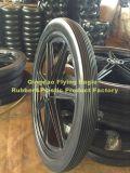 """24의 """" X2 """" 폴리우레탄 고무 트롤리 바퀴"""