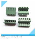 Pin 6 9pin Screw Terminal Block Connector Pluggable Type de 5.08mm
