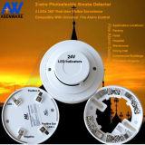 製造業者24V 2ワイヤー二重LEDの慣習的な火災報知器の煙探知器