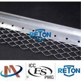 Mur d'angle mailles/cordon d'angle de feuilles en métal perforé/cordon d'angle en métal galvanisé