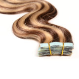 "Tape Weft Hair Straight 20PCS Invisable Tape Hair 22 "" Seamless Skin Weft HairのHair ExtensionsのピアノColor Remy Tape"