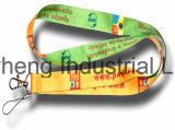 Cores misturadas tubular Corda de poliéster com o logotipo personalizado