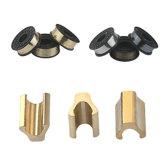 Chiusura lampo inferiore di alluminio di arresto degli accessori dell'indumento della chiusura lampo del tappo no. 5 dell'ottone H