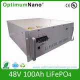 卸し売りフォークリフトのためのねじによって接続される48V 100ah LiFePO4電池