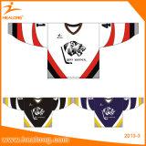 Venda Por Atacado Custom Hockey Jersey Jersey de Hóquei no gelo Sublimação Europeia com Tackle Twill Embroidery
