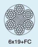 De Kabel van de Draad van het Staal van Ungalvanized 6X19+FC