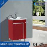 シンプルな設計の床の永続的な浴室用キャビネットPVC