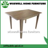 カシ木長方形の無作法なダイニングテーブル