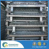 Stapelbarer Maschendraht, der Ladeplatten-Behälter-Rahmen verstärkt