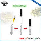 Se dobla el kit electrónico disponible del EGO del cigarrillo del atomizador de cristal de las bobinas 0.5ml