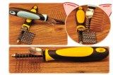 I pettini d'acciaio dei capelli dei aghi di stampa della mano di plastica dell'animale domestico dirigono il fornitore, prodotto dell'animale domestico