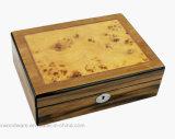 Contenitore di regalo impaccante di legno di memoria dei monili/monili di alto di lucentezza del palissandro rivestimento del piano con il cassetto