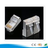 Le protocole STP CAT6A 8p8c fiche modulaire RJ45 fiche modulaire de connecteur