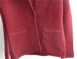 Casaco de lã aberto da luva longa das senhoras do inverno com tecla