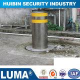 Aumento automático de control remoto de balizas de acero inoxidable de barrera en carretera.
