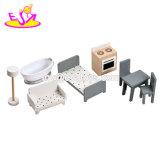 Neues heißestes hölzernes amerikanisches Puppe-Minihaus für Kinder W06A270