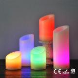 O diodo emissor de luz barato Candles as velas coloridas feitas sob medida diferentes de Luminara da coluna da flama por atacado