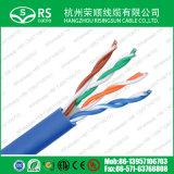 Bleu UTP de catégorie 6 U/23 awg 4 paires de câble LAN avec pass-Test de la RCP