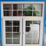 Kundenspezifisches Doppelt-Blatt Belüftung-Flügelfenster-Glasfenster mit Gitter-Entwurf vom Lieferanten in Zhejiang, China (PCW-029)