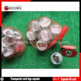 Cápsulas de cartão de plástico transparente para promoção ou brindes publicitários