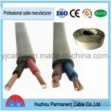 Cable plano, cables eléctricos de Wires& con el PVC forrado