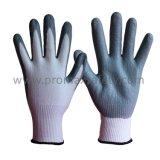 13G связало перчатки отрезока упорные при серая покрынная ладонь нитрила пены