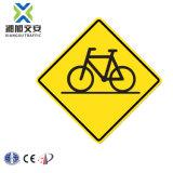 La prohibición de señal de tráfico de aluminio con cinta reflectante de alta