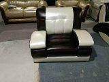 Sofá moderno del cuero de la sala de estar (829)