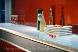 方法赤い光沢のあるラッカーMDFの食器棚の台所食器棚