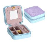 Feiner quadratischer Schmucksache-Kasten mit Qualität und niedrigem Preis für das Reisen und Familien-Speicher