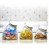 100ml-500ml 3 Copo de vidro hermeticamente o recipiente de armazenamento de Ajuste