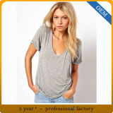 T-Shirt der Fabrik-Preis-kundenspezifische Form-Bambusfrauen
