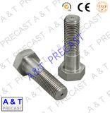 Manchon de pièces d'ancrage en acier galvanisé avec écrou à embase