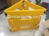 Barrera extensible plástica apretada barrera plegable de la barrera del control