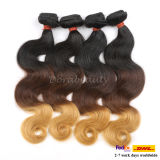8A Grade Weaving Human Hair Extensions Ombreのインド人Hair
