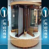 Puerta plegable de aluminio de buena calidad y auditoría de TUV