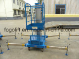 levage hydraulique électrique 10m ou d'alimentation par batterie d'alliage d'aluminium de plate-forme