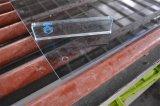 Gris foncé / Bleu Gris / Verre trempé avec bords polis Trous de forage