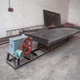 Uso da redução da mineração da areia do ouro do Placer que agita a tabela