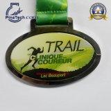 2015 medaglia di maratona di 5k 10k con il nastro di scambio di calore