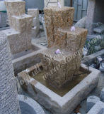 Gelber Granit-Wasser-Brunnen (GFC-093)