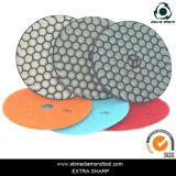 Granite Marble를 위한 100mm Diamond Resin Dry 3 단계 Polishing Pads