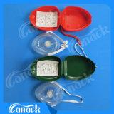 Válvula unidirecional de alta qualidade de bolso de Primeiros Socorros Máscara de RCP