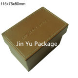 Caja de embalaje del reloj de cuero plástico Jy-Wb16 con insignia de encargo