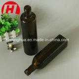 De vidro âmbar com tampas de vaso de azeite