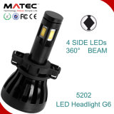 Conversão popular do farol do diodo emissor de luz do carro G6 para o automóvel 5202 H4 H7 H11 9005/6 9004/7