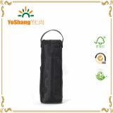 مع علامة تجاريّة بيع بالجملة قابل للاستعمال تكرارا سوداء جلد عادة خمر حقيبة
