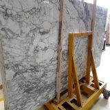 Mármol de mármol material del blanco de Italia Arabescato del azulejo de la pared de la decoración mayor del chalet