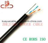 Câble souterrain rempli par gelée d'acoustique de connecteur de câble de transmission de câble de caractéristiques de câble de câble/ordinateur de 2pair UTP Cat5e