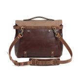 Новая конструкция при ежедневном использовании Vintage натуральной кожи с Canvas Messenger Bag сумка для ноутбука
